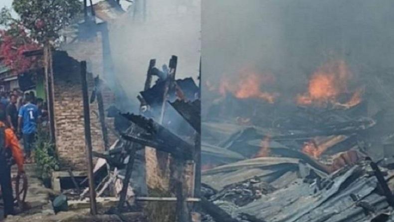 Kebakaran di Tanjungbalai, 7 Rumah Warga Ludes Dilalap Api