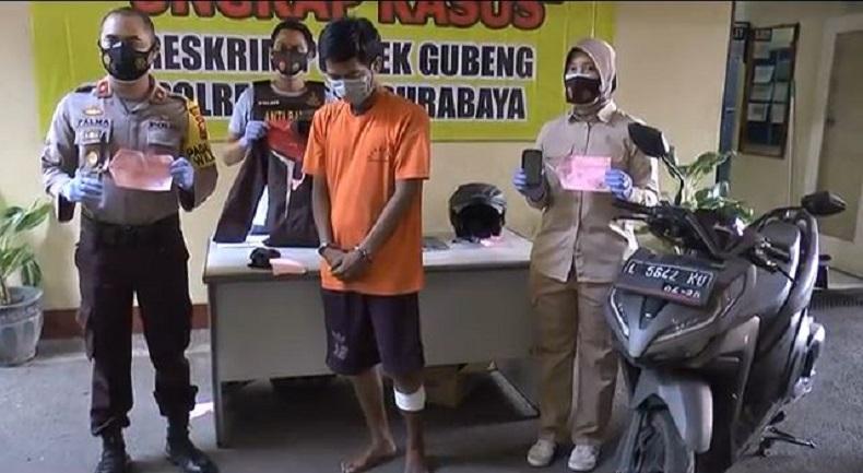 Melawan Petugas dengan Pisau, Buron Kasus Perampokan di Surabaya Ditembak di Kaki Kiri