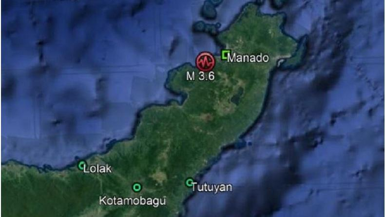 Gempa Bumi Tektonik M 3,6 Guncang Tomohon, Ini Penjelasan BMKG