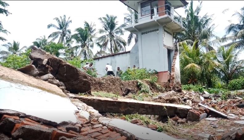 Tembok Rutan Bangli Bali Roboh akibat Hujan Deras, Menimpa Rumah Dinas