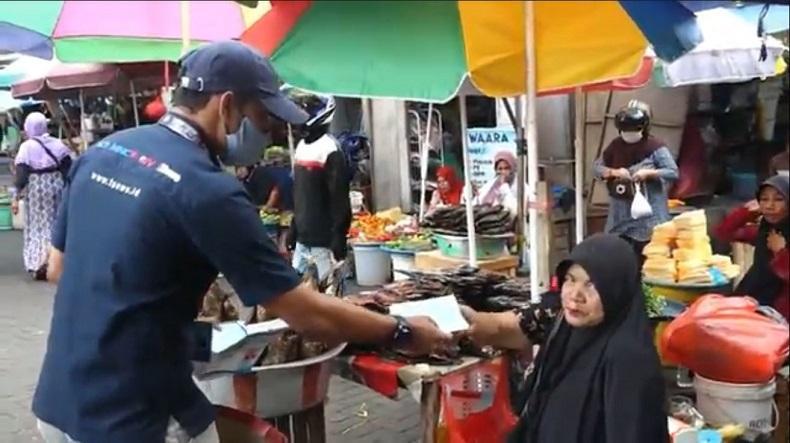Tekan Penyebaran Covid-19, Jurnalis Televisi di Ternate Bagi 1.000 Masker Gratis