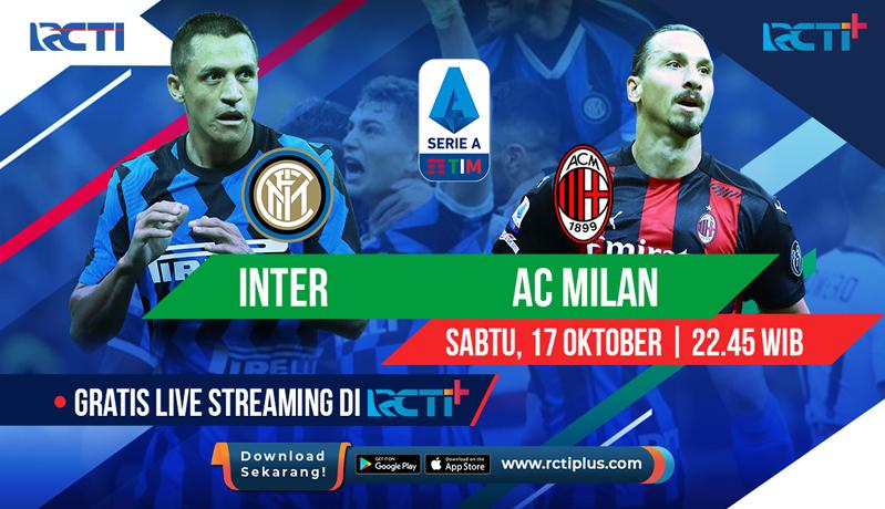 Ada Inter Milan Vs AC Milan, Ini Jadwal Siaran Langsung Liga Italia di RCTI+