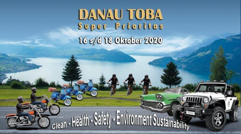 Komunitas Vespa dan Mobil Antik Ramaikan Touring Danau Toba