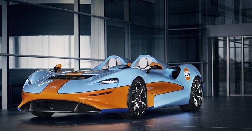 McLaren Hadirkan Roadster Elva Berdesain Gulf