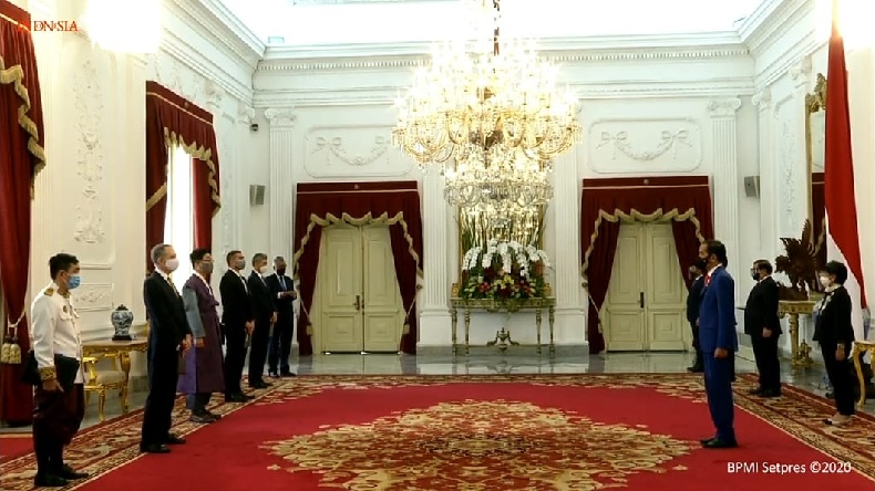 Jokowi Terima Surat Kepercayaan 7 Dubes Negara Sahabat, AS Salah Satunya