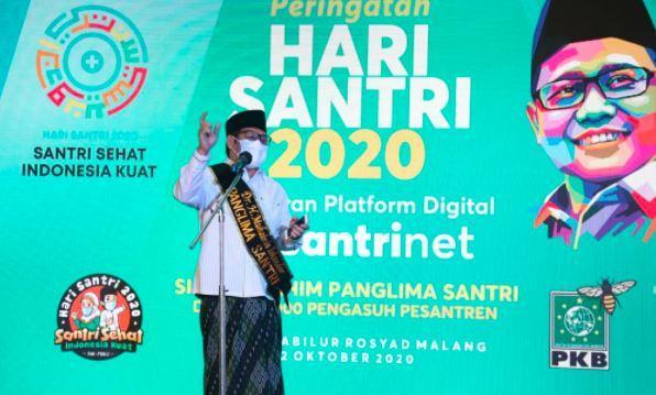 Puncak Hari Santri 2020, Gus AMI Luncurkan Platform Digital SantriNet