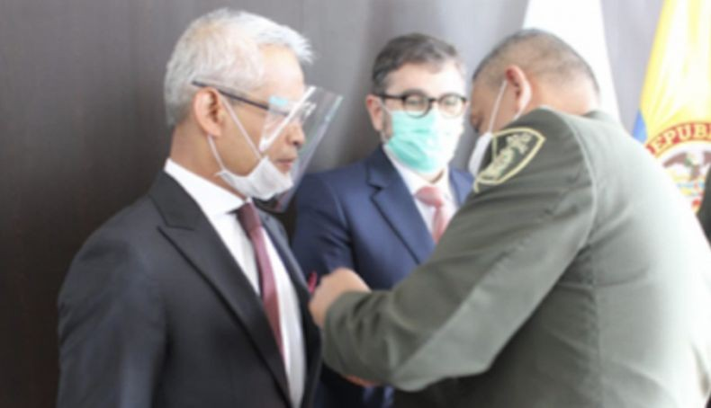 Dubes RI di Bogota Terima Penghargaan dari Kepolisian Kolombia soal Perang Narkoba