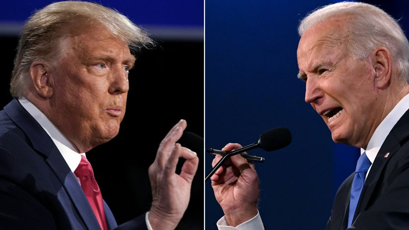 Momen Donald Trump dan Joe Biden saat Debat Terakhir Calon Presiden AS