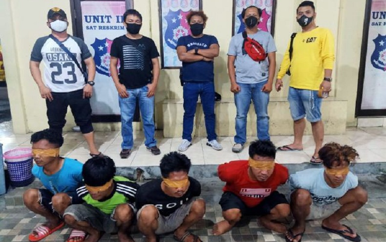 Ini Tampang 5 Pencuri Mesin Kapal Nelayan Boltim yang Ditangkap di Manado