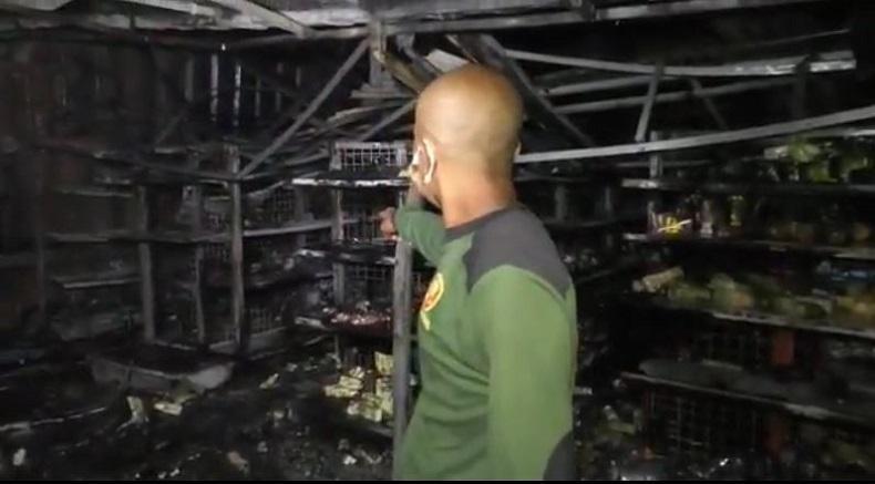 Minimarket dalam Lapas Purwokerto Terbakar, Diduga akibat Korsleting Listrik