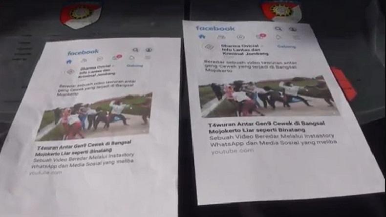 Unggah Video Tawuran Pelajar di Media Sosial, 3 Remaja di Mojokerto Ditangkap Polisi