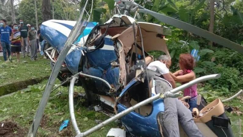 Dua Helikopter Bertabrakan, 2 Orang Tewas