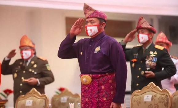 Gubernur Herman Deru Ingin Semua Gedung di Sumsel Pakai Simbol Tanjak