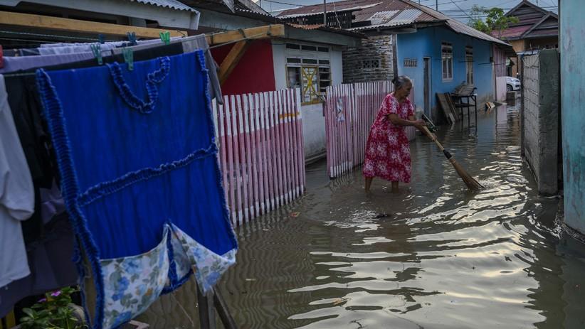 40 Rumah Warga Kampung Pelangi Babel Terendam Banjir Rob