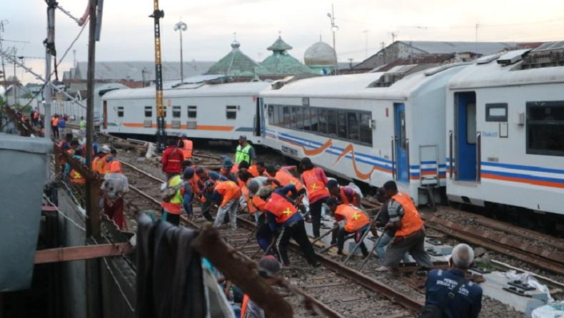 PT KAI Jelaskan Penyebab 7 Gerbong KA Gajayana Meluncur dan Tabrak Kerumunan Pekerja