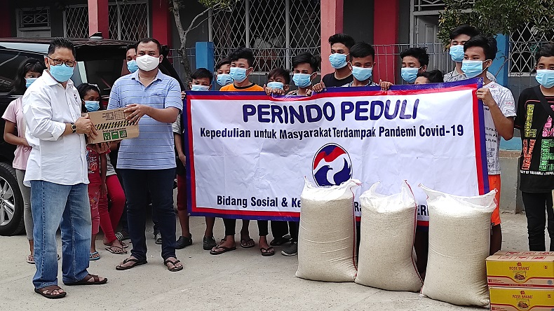 Partai Perindo Salurkan Bantuan ke Panti Asuhan Berkat Kasih Imanuel di Cilincing