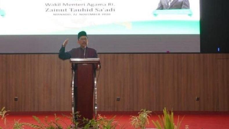 Wamenag KH Zainut Tauhid Sa'adi Sebut Sulut Laboratorium Kerukunan di Indonesia