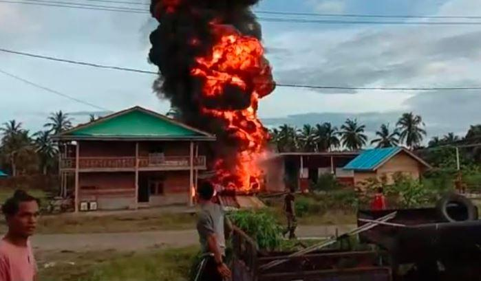 SPBU di Mentawai Meledak dan Terbakar, 1 Korban Luka-luka