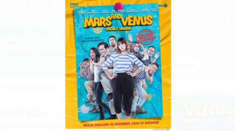 Tayang 10 Desember di Bioskop, Film Mars & Venus Bikin Kamu Paham Sudut Pandang Cewek & Cowok, Ini Trailernya!