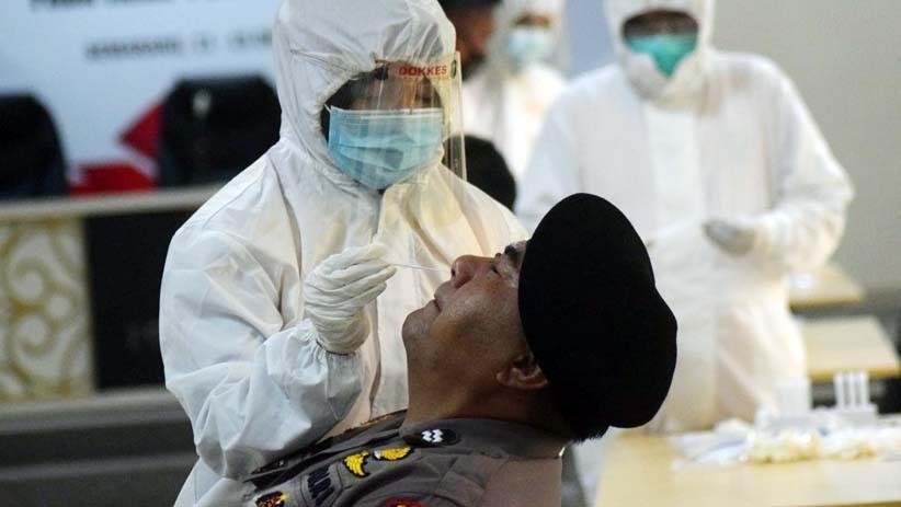 Personel dan Tahanan di Polres Bukittinggi Dites Swab PCR