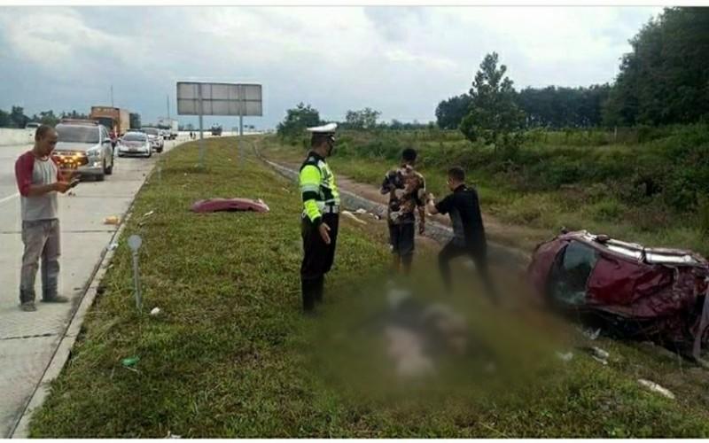 Pecah Ban di Tol Terpeka, 2 Perempuan Muda Asal Palembang Tewas