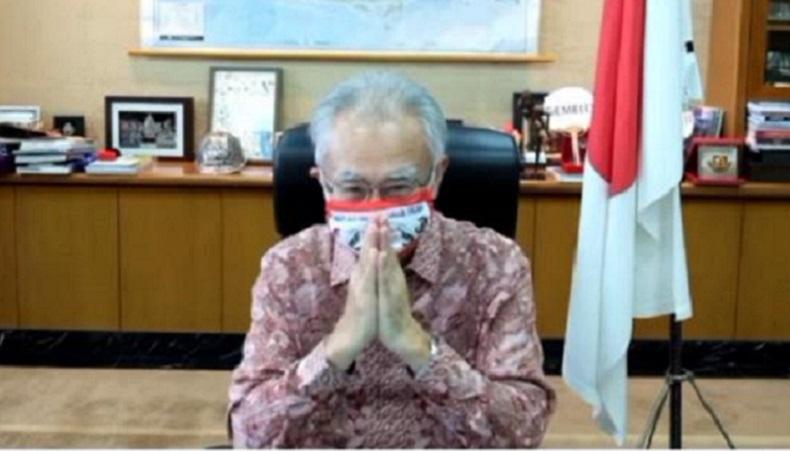 Dubes Jepang Pamitan Pakai Masker Spanduk Pecel Lele, Netizen: Bye Kakek Online Jenaka