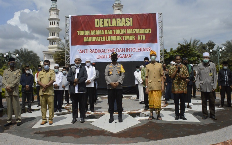 Tokoh Lintas Agama di Lombok Timur Deklarasi Anti Radikalisme dan Intoleransi