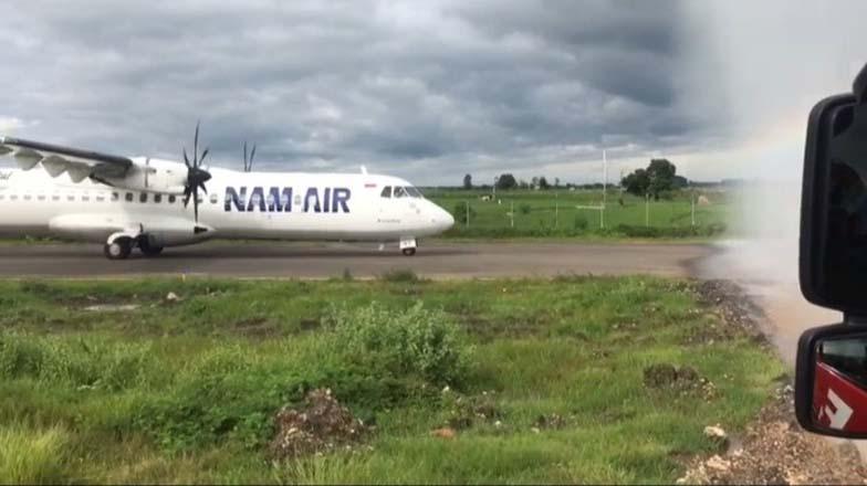 Nam Air Mendarat Mulus di Ngloram, Ganjar: Bandara di Blora Siap Melayani Penumpang