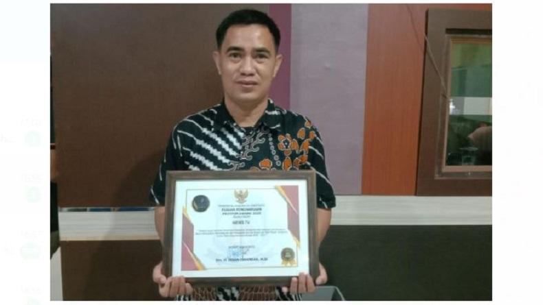 iNews TV Makasar Sabet Penghargaan dari Pemkab Jeneponto