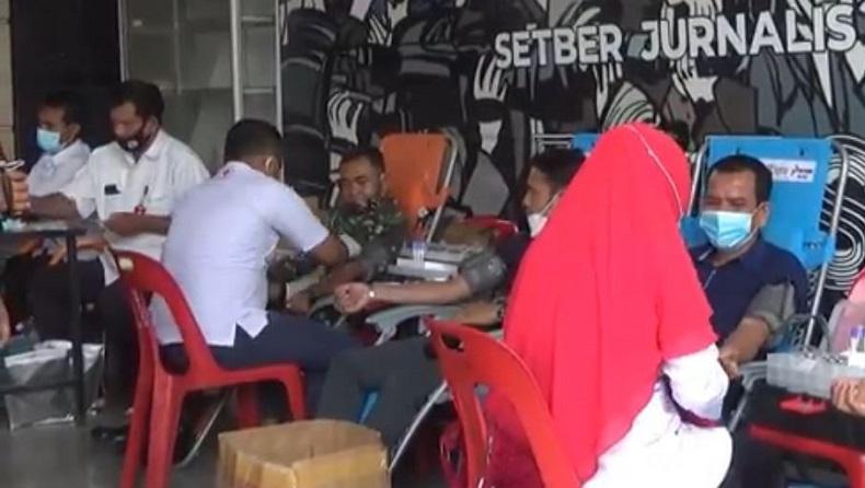 Stok Darah di PMI Aceh Utara Kosong, Jurnalis Gelar Donor Darah di Lhokseumawe