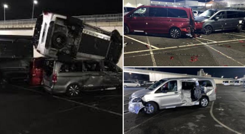 Tak Terima Dipecat, Seorang Pria Nekat Hancurkan 50 Van Mercedes-Benz Seharga Rp500 Jutaan