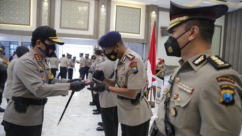 357 Personel Polrestabes Surabaya Naik Pangkat