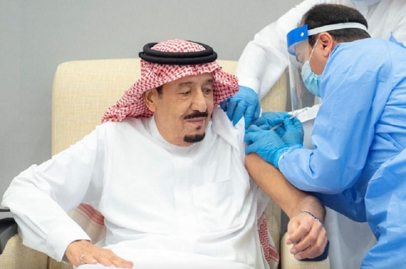 Raja Salman Disuntik Vaksin Covid-19