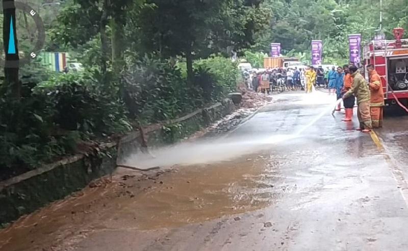 Longsor di Puncak Bogor Sudah Dibersihkan, Polisi: Tinggal Disemprot