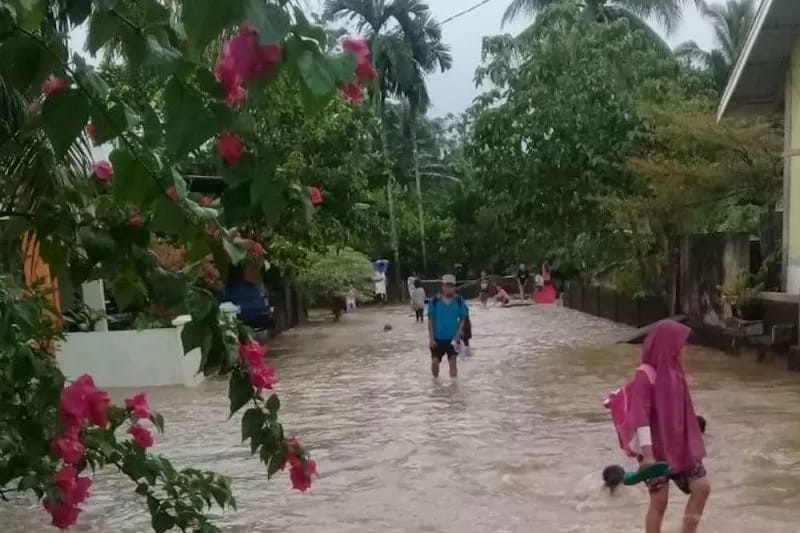 Diguyur Hujan Lebat, 150 Rumah Warga Bungus Teluk Kabung Terendam Banjir