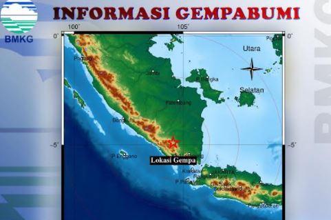 Gempa Terkini Magnitudo 4,1 Guncang Lampung Utara, Warga Diminta Tenang