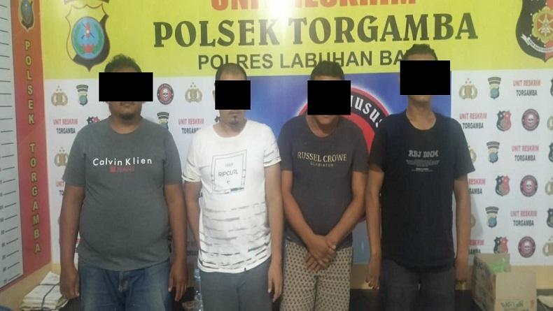 Komplotan Pencurian Dump Truk di Labuhanbatu Ditangkap