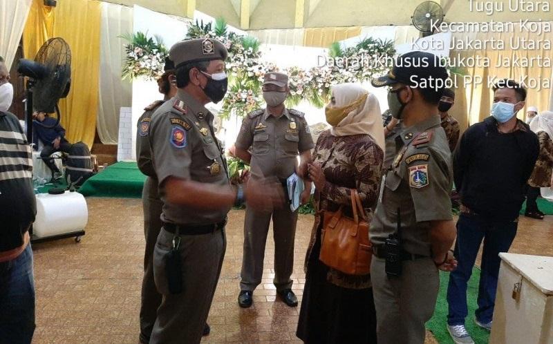 Belum Izin dan Timbulkan Kerumunan, Resepsi Pernikahan di Jakarta Utara Dibubarkan