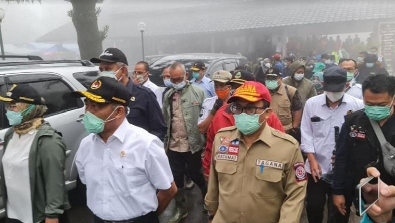 Menko PMK dan Kemensos Tinjau Lokasi Banjir Bandang di Kawasan Gunung Mas Bogor