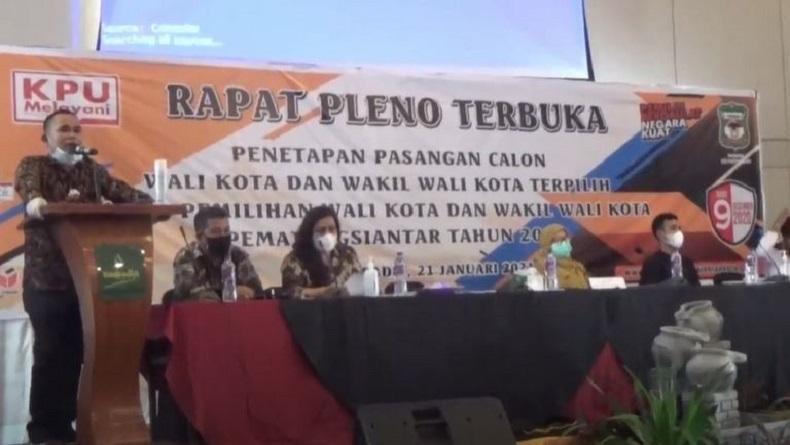 Almarhum Asner Silalahi Ditetapkan sebagai Wali Kota Pematangsiantar Terpilih