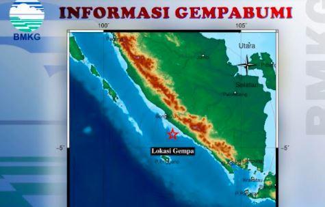 Gempa Bengkulu M4,9, BPBD Sebut Belum Ada Laporan Kerusakan