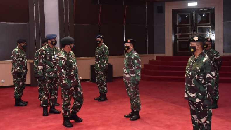 22 Jenderal TNI Naik Pangkat, Wadan Paspampres Wahyu Hidayat Resmi Bintang 1