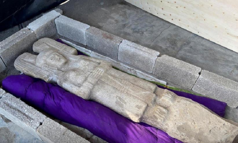 Petani Temukan Patung Kuno Diduga Berusia 5 Abad saat Hendak Tanam Semangka