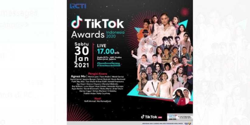 Apresiasi TikTok Awards di RCTI, Angela Tanoesoedibjo: Kreator Konten Peluang Baru Ekonomi Kreatif