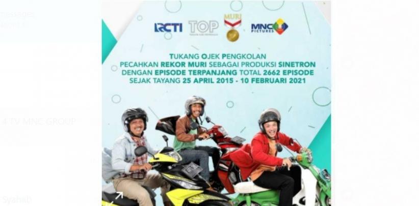 Raih Rekor MURI, Tukang Ojek Pengkolan Tercatat sebagai Sinetron dengan Episode Terpanjang di Indonesia