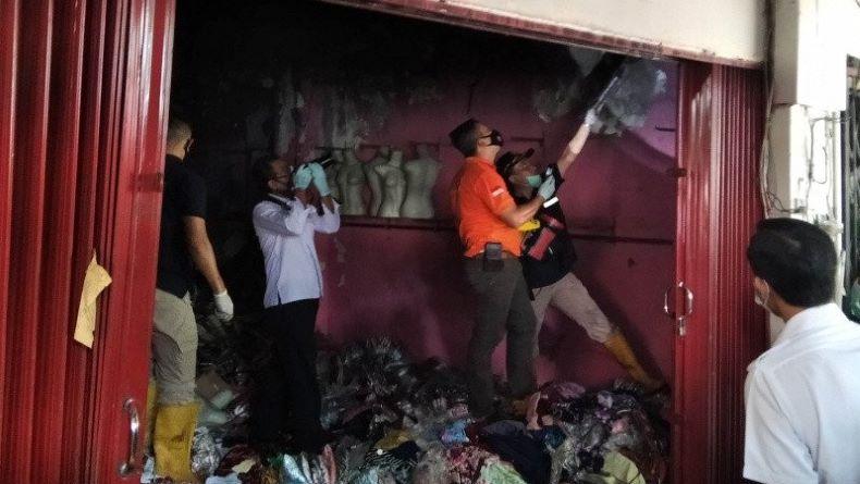 Tim Labfor Polda Jateng Selidiki Kebakaran Kios di Pasar Kliwon Kudus
