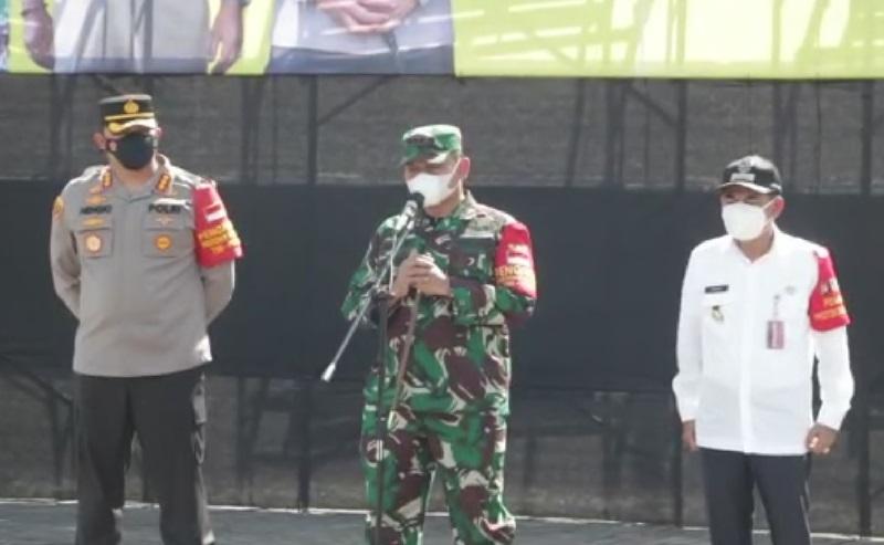 Tiga Pilar Jakarta Pusat Lepas 12.000 Relawan Pengawas Protokol Kesehatan Tingkat RT