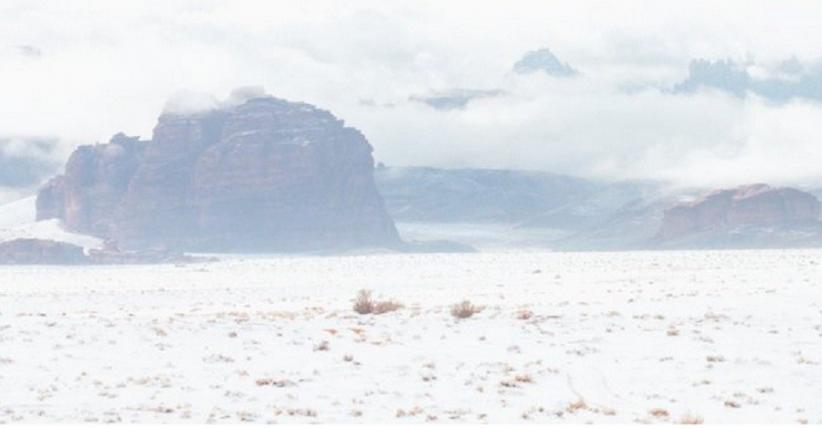 Sebagian Wilayah Arab Saudi Diselimuti Salju Jumat Ini