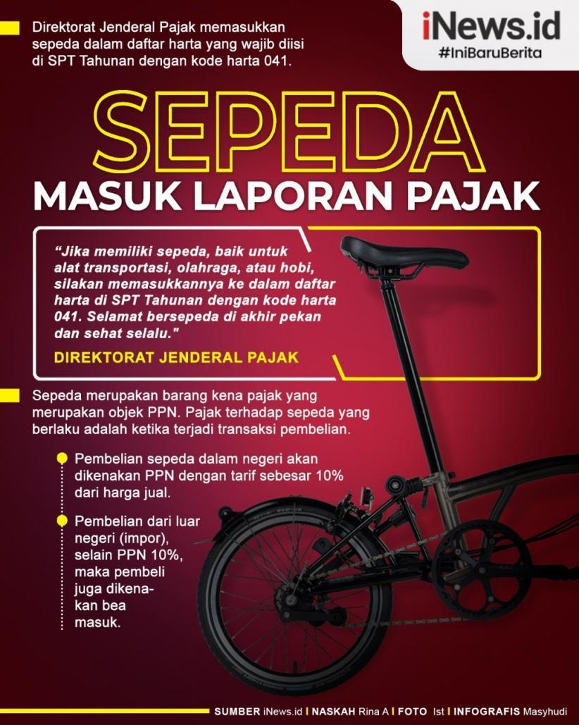 Infografis Sepeda Wajib Dilaporkan di SPT Pajak