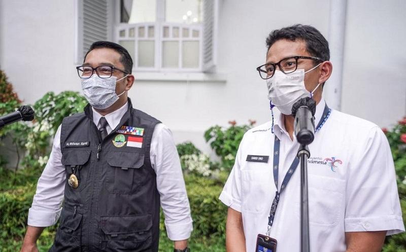 Sukseskan KEK Pariwisata Lido, Ridwan Kamil Ucapkan Terima Kasih kepada Sandiaga Uno